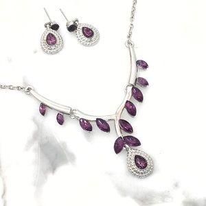 Jewelry - Purple Crystal Necklace Set